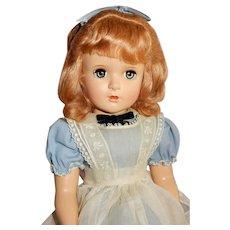 "BEAUTIFUL 18"" Hard Plastic 1949 Madame Alexander Alice in Wonderland"