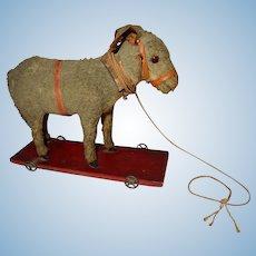 WONDERFUL Primitive Antique Donkey Pull Toy