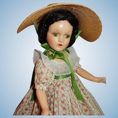 LOVELY 18: Composition 1939 Madame Alexander Scarlett O'Hara Doll