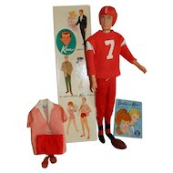 AWESOME 1963 Ken Doll MIB wearing Complete Touchdown Outfit