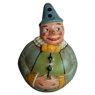 """AWESOME 8.5"""" Noma Paper Mache Roly Poly Clown"""