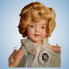 "ADORABLE and Rare 11"" 1930's Composition Shirley Temple Doll"