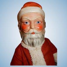 "WOW 19"" Composition German Santa Claus in Original Costume c.1915"