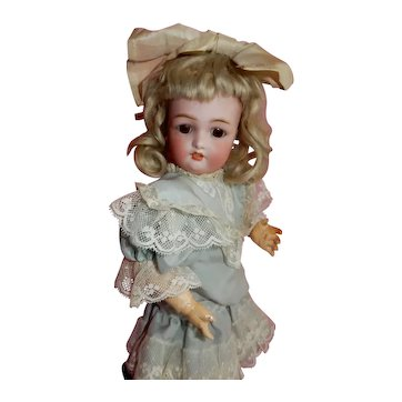 """DARLING 12"""" Petite German bisque child by Bergman with original body and wig"""