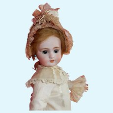 """OUTSTANDING and Petite  16"""" French bisque bebe """"Dep"""" with original French body"""