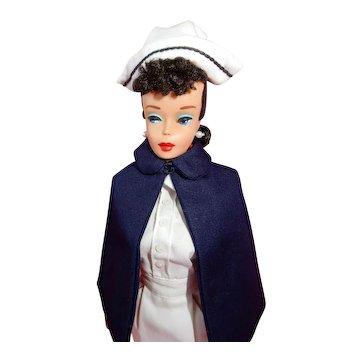 GORGEOUS Number 4 Brunette Ponytail Barbie in Complete Registered Nurse
