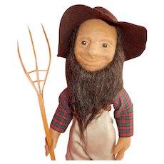 WONDERFUL Early R John Wright Peasant Doll Seth