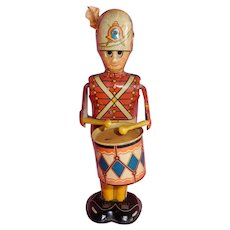GREAT Earlier Version of Marx George the Drummer Boy Tin Wind Up Toy