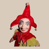 AWESOME Vintage Anna Marita Court Jester Hand Puppet from England
