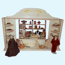 "WONDERFUL German Doll House Store Scene ""Miscellaneous Trade"""