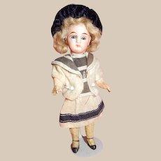 "CUTE all Original 6"" Closed Mouth Bisque head Doll"