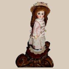 """Lovely 10"""" Sonneberg Doll for French Market"""