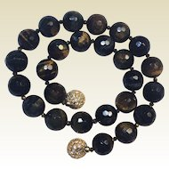 Chatoyant Faceted Tiger Eye Necklace