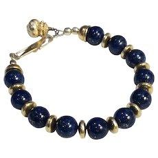 Lapis lazuli Bracelet Earrings Pendant Necklace Set