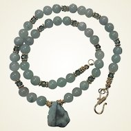 Genuine Emerald Slice Green Apatite Necklace Earrings