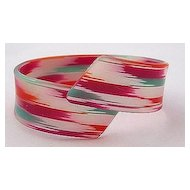 Plastic Acetate Candy Colors Crossover Cuff Bracelet
