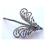 Victorian Cut Steel Dragonfly Dress or Hair Ornament