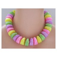 Candy Pastel Plastic Chunky Bead Necklace