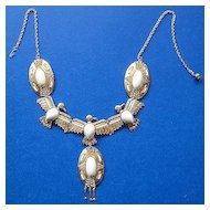 Richelieu Egyptian Revival Phoenix Bird Bib Necklace