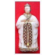 Hattie Carnegie Figural Asian Man Pin Brooch ~ Faux Ivory