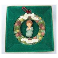 1977 Hallmark Della Wreath Twirl About Ornament