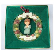 1977 Hallmark Della Wreath Twirl About Ornament