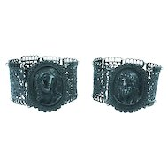 An Important Pair of Berlin Iron Bracelets, signed Caqué, c. 1820s