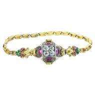 Rare Renaissance Revival Bracelet w/ Secret Compartment, French 1830s