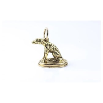 Victorian Gold Dog Seal / Charm / Pendant, French, 19th century