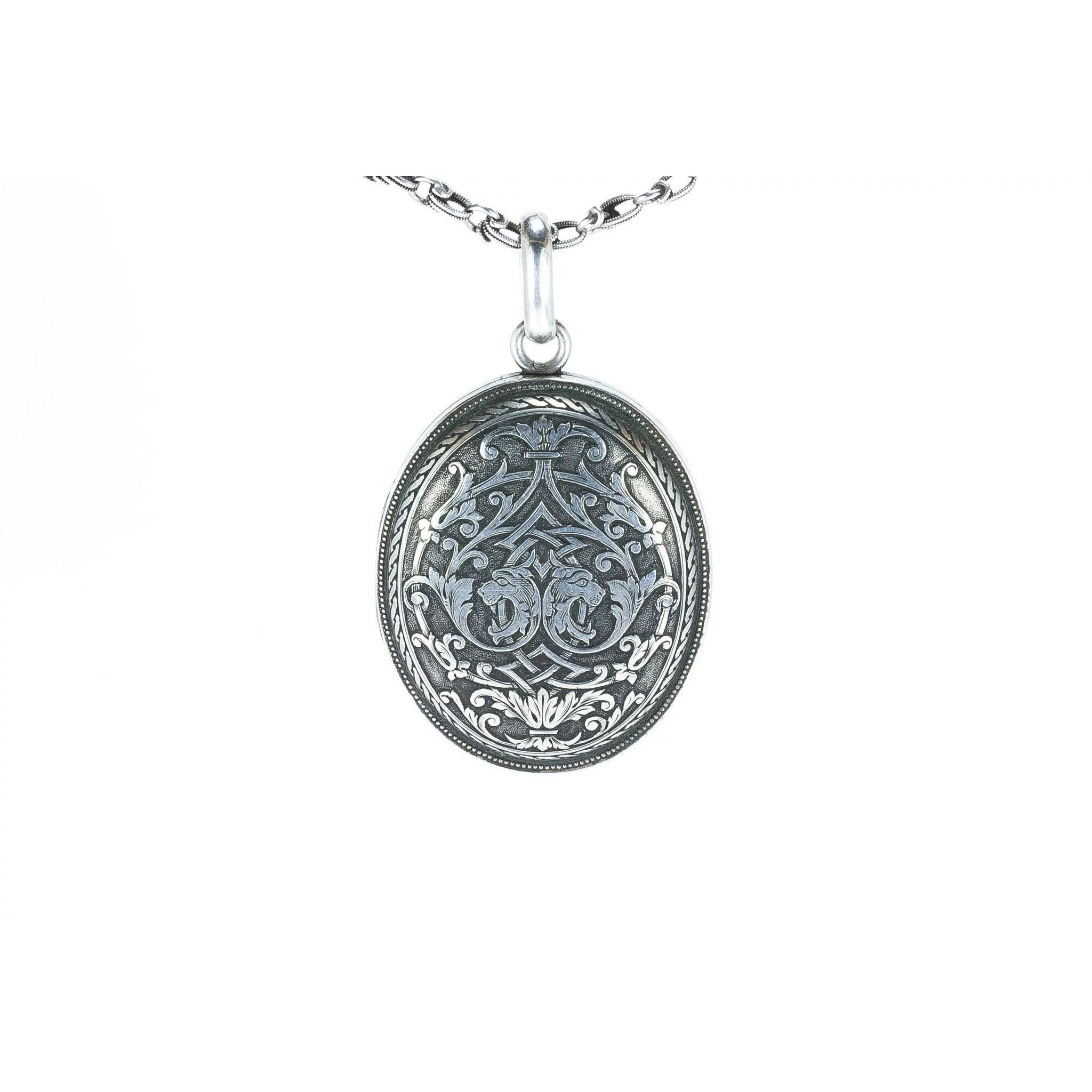 schmuckwerk lockets large grosses poliert silver m de medaillon shop silber locket timeless