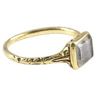 A Rare, Early Mourning Ring, late 16th to early 17th century