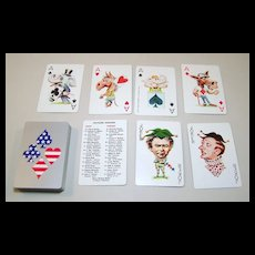 Nixon Politicards Playing Cards (No Box), Sealed, c.1971