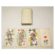 "Piatnik ""Industrie und Gluck"" Tarock Cards, J. Neumayer Designs w/ Bismarck Fool Card, c.1890"