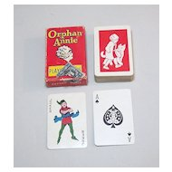 """Western """"Orphan Annie"""" Miniature (Patience Size) Playing Cards, c.1930s"""