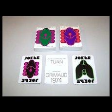 "Twin Decks ""Grand Prix Grimaud 1974"" Playing Cards, Tuan Designs, c.1974"