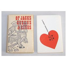 """Huxley House """"Of Jacks, Queens & Kings,"""" Gatefold Samplers 18th Century Playing Cards, Walter Huxley and Franz Hess Designs, Christmas and New Year's Greeting 1948"""