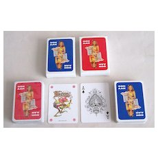 """Twin Decks Windmill (INTL) """"Daily Star"""" Pin-Up / Glamour Playing Cards, Daily Star Adv., c.1990s"""