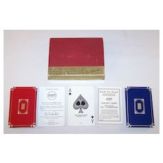 """USPC """"Jo-Jotte"""" Card Game, Ely Culbertson Invention, c.1937"""