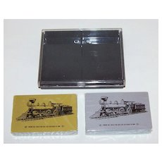 """Double Deck """"Soo Line"""" Railroad Playing Cards, Commemorative 100th Anniversary Engine No.1, c.1984"""