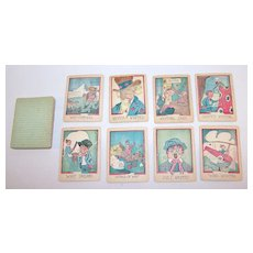 """Russell Mfg. Co. """"Comical Game of Whip"""" Card Game, c.1931"""