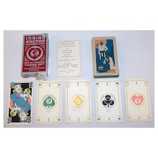 """August Petryl & Son """"Green Spade Tarok Set,"""" Published by Publicity Art Studios as """"Indian Auction and Fortune Telling"""" – """"With the American Tarok Set,"""" c.1934"""