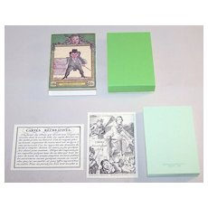 "Arienti / Solleone Facsimile ""Cartes Récréatives 1819"" Transformation Cards, Limited Edition (520/800), c.1984 (Based On Guiard Pack c.1819)"