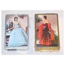 """Double Deck USPC (Congress) """"Glamour"""" Playing Cards, Unknown Artist, c.1952"""