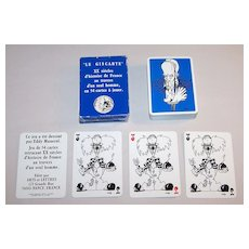 """Editions Arts Et Lettres (Grimaud) """"Le Giscarte"""" Playing Cards, Eddy Munerol Designs, c.1986"""