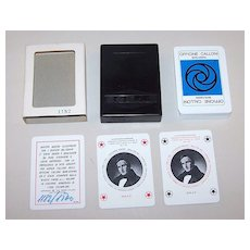 "Solleone (Plastic Cards) ""Officine Calloni"" Playing Cards, Sergio Calloni Publisher, Manzoni Commem., Ltd. Ed. (1182/1500), Sterneri and Antonioli Designs (1840 Gonin Illus. -- ""The Betrothed""), c.1973"