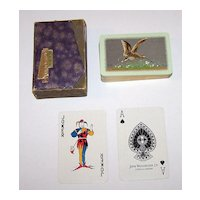 "Waddington ""Snipe -- Sporting Birds Series"" Playing Cards, William Barribal Design (Backs), c.1930s"