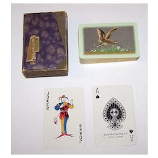 "Waddington ""Snipe -- Sporting Birds Series"" Playing Cards, William Barribal Design (Backs), c.1930s"