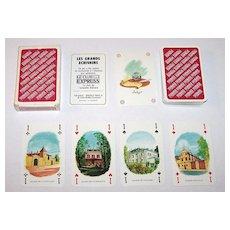 "Carta Mundi (Brepols) ""Les Grand Ecrivains"" (""The Great Writers"") Playing Cards, Le Club Express, J.P. Djivanides Designs, c.1970"