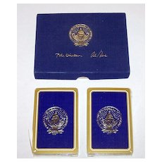 """Double Deck Gemaco """"Clinton/Gore Inauguration"""" Playing Cards, Second Clinton Term, c.1997"""