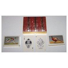 "2 Decks Waddington ""Sporting Birds Series"" Playing Cards – ""Mallard"" and ""Pheasant"" – William Barribal Designs (Backs), c.1930s"